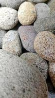 Abstract photo with close-up of rock objects