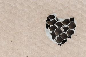torn brown paper.available Heart paper photo