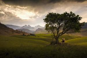 Alone outdoors landscape photo