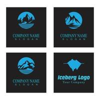 Ice berg Logo Template vector symbol nature