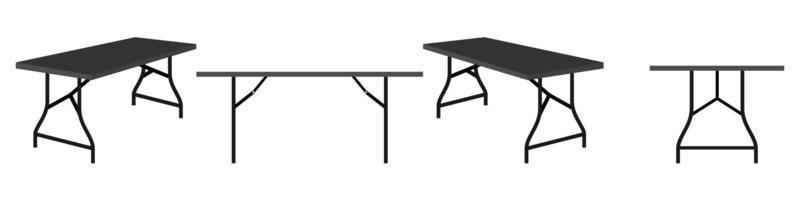 Modern cute beautiful home office foldable table for freelancer isolated vector
