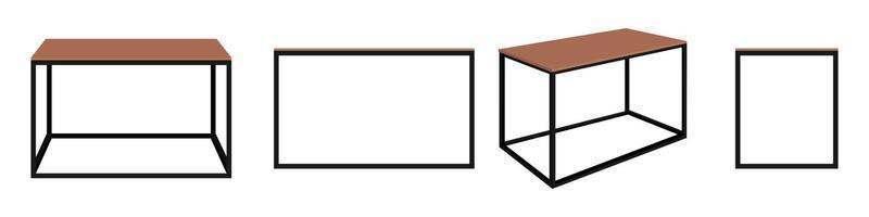 Modern cute beautiful home office table for freelancer with steel frame vector