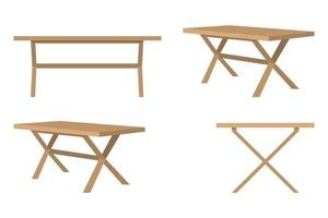 Modern cute beautiful home office table for freelancer isolated made with wooden board vector