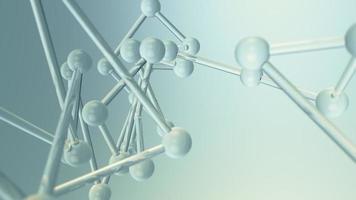 Panning through an abstract glass molecular network video