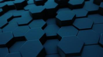 Abstract moving hexagonal background with depth of field video