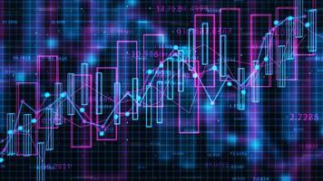 4K Financial Data Concept video