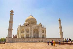 Agra, India, May 10, 2018 - Taj Mahal panorama in Agra, India photo