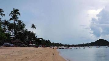 Beautiful natural Bo Phut Beach panorama on Koh Samui Thailand. video