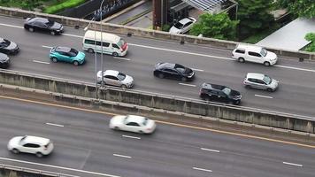 Rush hour heavy traffic in the metropolis of Bangkok Thailand. video