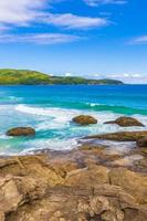 praia lopes mendes beach en la isla tropical ilha grande brasil. foto