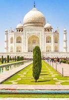 Agra, India, 2021 - Panorama del Taj Mahal en Agra, India foto