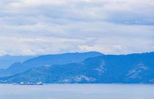 Panorama view from Ilha Grande to Terminal da Petrobras Brazil. photo