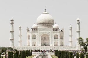 Visitors at the Taj Mahal in Agra, India photo