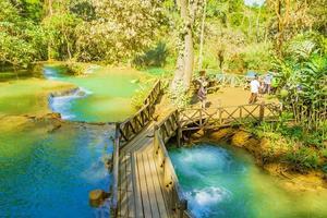 luang prabang, laos 2018- las cascadas más hermosas kuang si cascada luang prabang laos foto