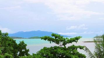 Panoramic View of Koh Samui Island Thailand on A Cloudy Day video