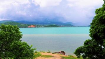 Koh Samui Thailand panoramic view on a cloudy rainy day video