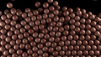 animation cg des boules de bonbons au chocolat avec cache alpha video