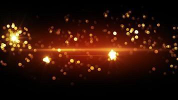 Orange fireworks beautiful bokeh loopable background video