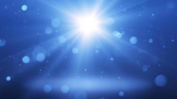 Blue light background seamless loop video