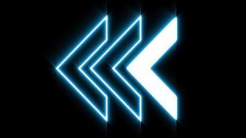 blue LED Light left arrow loop animation video