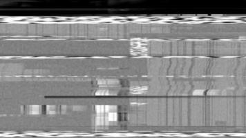 VHS Glitch noise loop animation video