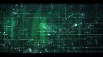 Sci fi technology digital grid background video