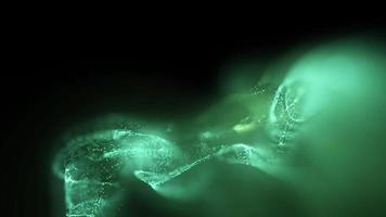 Beautiful Green particles or smoke abstract motion background Free Video