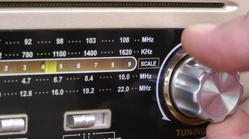 Old Radio Channel Searching Hand video