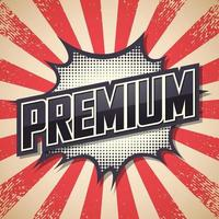 Premium, Retro Poster. Font Expression Pop Art. Speech Bubble. Vector Illustration
