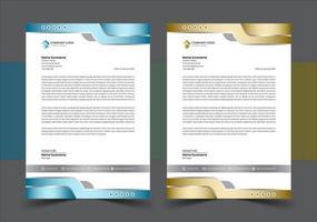 Modern luxury business letterhead template vector