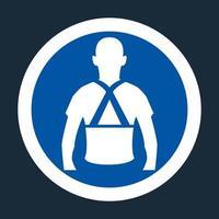 Wear Back Support Symbol Sign On black Background vector