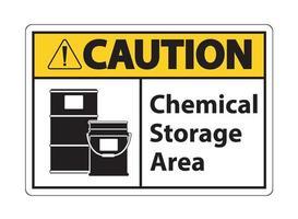 signo de símbolo de almacenamiento químico de precaución aislar sobre fondo transparente, ilustración vectorial vector