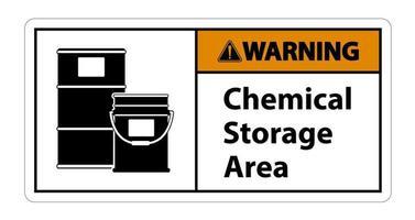 Signo de símbolo de almacenamiento químico de advertencia aislar sobre fondo transparente, ilustración vectorial vector