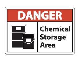 Signo de símbolo de almacenamiento químico de peligro aislado sobre fondo transparente, ilustración vectorial vector