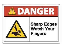Danger Sharp Edges Watch Your Fingers Symbol vector