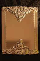 Hobby work which is given the silver image by embossing and painting foil photo