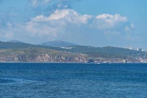Seascape with a view of the coastline of Vladivostok photo