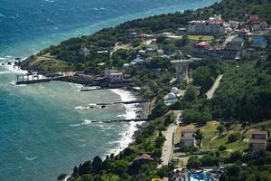 Top view of the seascape in Simeiz, Crimea photo