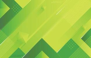 Geometric Shapes Background in Green vector