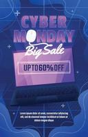 Cyber Monday Big Sale Poster vector