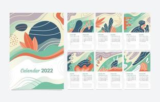 Modern Abstract Calendar 2022 Template vector