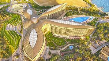 Aerial view of the modern health resort in Yalta, Russia photo
