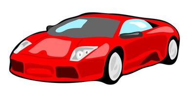 Simple Flat Red Generic Sports Car vector