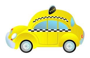 Generic Yellow Taxi Cab Passenger Vehicle vector