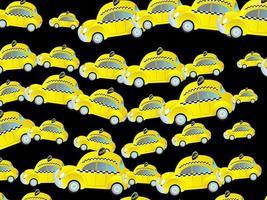 Generic Yellow Taxi Cab Traffic Jam Wallpaper vector