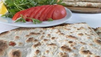 Ready to eat turkish fast food, lahmacun photo