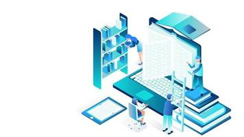 Modern isometric business infographic concept video