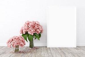 Frame mockup white flowers - 7 photo