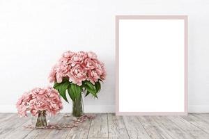 Frame mockup pink flowers - 7 photo