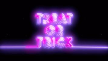 neón púrpura, rosa truco o trato de halloween, emoji, render 3d, foto